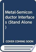 Metal semiconductor Interfaces Book