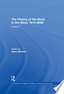 The History of the Book in the West  1914   2000