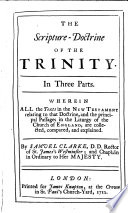 The Scripture Doctrine Of The Trinity