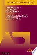 Lambda Calculus with Types