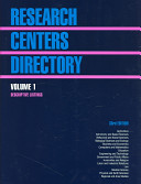 Research Centers Directory Book