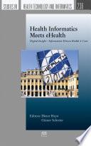 Health Informatics Meets EHealth Book
