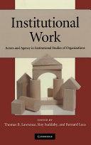 Institutional Work