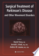 Surgical Treatment Of Parkinson S Disease And Other Movement Disorders Book PDF