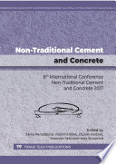 Non Traditional Cement And Concrete Book PDF