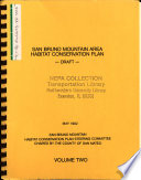 San Bruno Mountain Area Habitat Conservation Plan  San Mateo County  Draft Habitat Conservation Plan B1  2v   Plan Adoption and Implementation  Section 10 a  Permit  Draft Environmental Impact Report and Environmental Assessment  EA