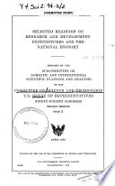 Selected Readings on Research and Development Expenditures and the National Economy