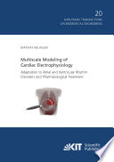 Multiscale Modeling of Cardiac Electrophysiology  Adaptation to Atrial and Ventricular Rhythm Disorders and Pharmacological Treatment