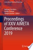 Proceedings of XXIV AIMETA Conference 2019