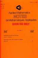 Applied Mathematics Notes Book