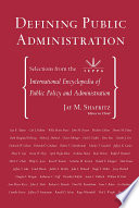 Defining Public Administration