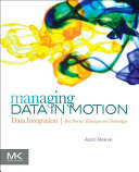 Pdf Managing Data in Motion Telecharger