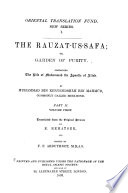 The Rauzat-us-safa: v. 1-2. The life of Muhammad the apostle of Allah