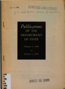 Publications of the Department of State