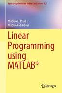 Linear Programming Using MATLAB