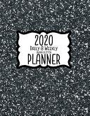 2020 Daily & Weekly Black Glitter Planner ebook