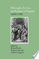 Philosophy Science And Religion In England 1640 1700