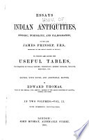 Essays On Indian Antiquities Historic Numismatic And Pal Ographic Of The Late James Prinsep