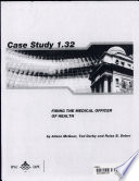 Trying To Fire The Medical Officer Of Health A Case Study Book PDF