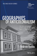 Pdf Geographies of Anticolonialism Telecharger