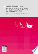 Australian Pharmacy Law and Practice - E-Book