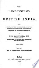 The Land systems of British India  book IV  The raiyatw  ri and allied systems Book PDF