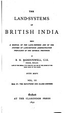 The Land-systems of British India: book IV. The raiyatwári and allied systems
