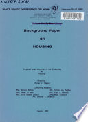 Background Paper on Housing