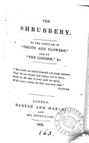 The shrubbery  a religious anthology  by the compiler of  Fruits and flowers