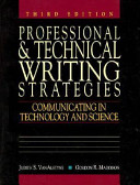 Cover of Professional and Technical Writing Strategies
