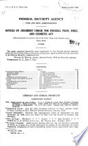 Notices of Judgment Under the Federal Food, Drug, and Cosmetic Act...