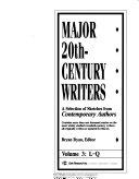 Major 20th century Writers Book