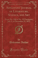 Appletons Journal Of Literature Science And Art Vol 14