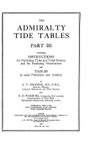 The Admiralty Tide and Tidal Stream Tables for the Year