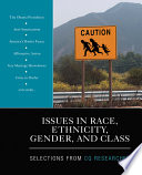 Issues in Race  Ethnicity  Gender  and Class
