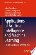 Applications of Artificial Intelligence and Machine Learning Book