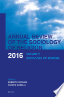 Annual Review of the Sociology of Religion Book PDF
