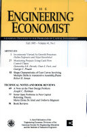 THE ENGINEERING ECONOMIST A JOURNAL DEVOTED TO THE PROBLEMS OF CAPITAL INVESTMENT FALL 1995 VOLUME 41 NO 1
