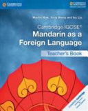 Books - Cambridge Igcse� Mandarin As A Foreign Language Teachers Book | ISBN 9781316629901