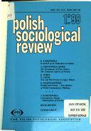 Polish Sociological Review
