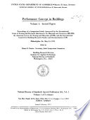 Performance Concept in Buildings  Invited papers