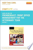 Front Office Management for the Veterinary Team - Pageburst E-book on Kno
