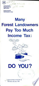 Many Forest Landowners Pay Too Much Income Tax