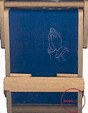 Bookchair Medium Praying Hands Blue