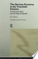The German Economy in the Twentieth Century