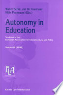 Autonomy in Education
