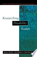 EBOOK  Researching Disability Issues