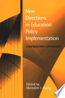 """""""New Directions in Education Policy Implementation"""" by Meredith I. Honig"""