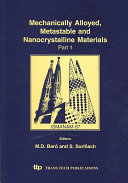 Mechanically Alloyed Metastable And Nanocrystalline Materials Book PDF