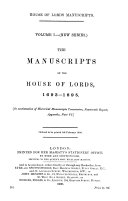 The Manuscripts of the House of Lords  1678 1688  Historical Manuscripts Commission  Reports  llth  appendix pt 2